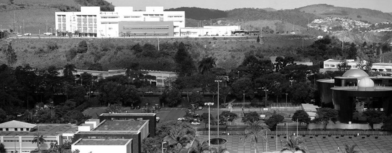 Imagem aérea do Campus da UFJF