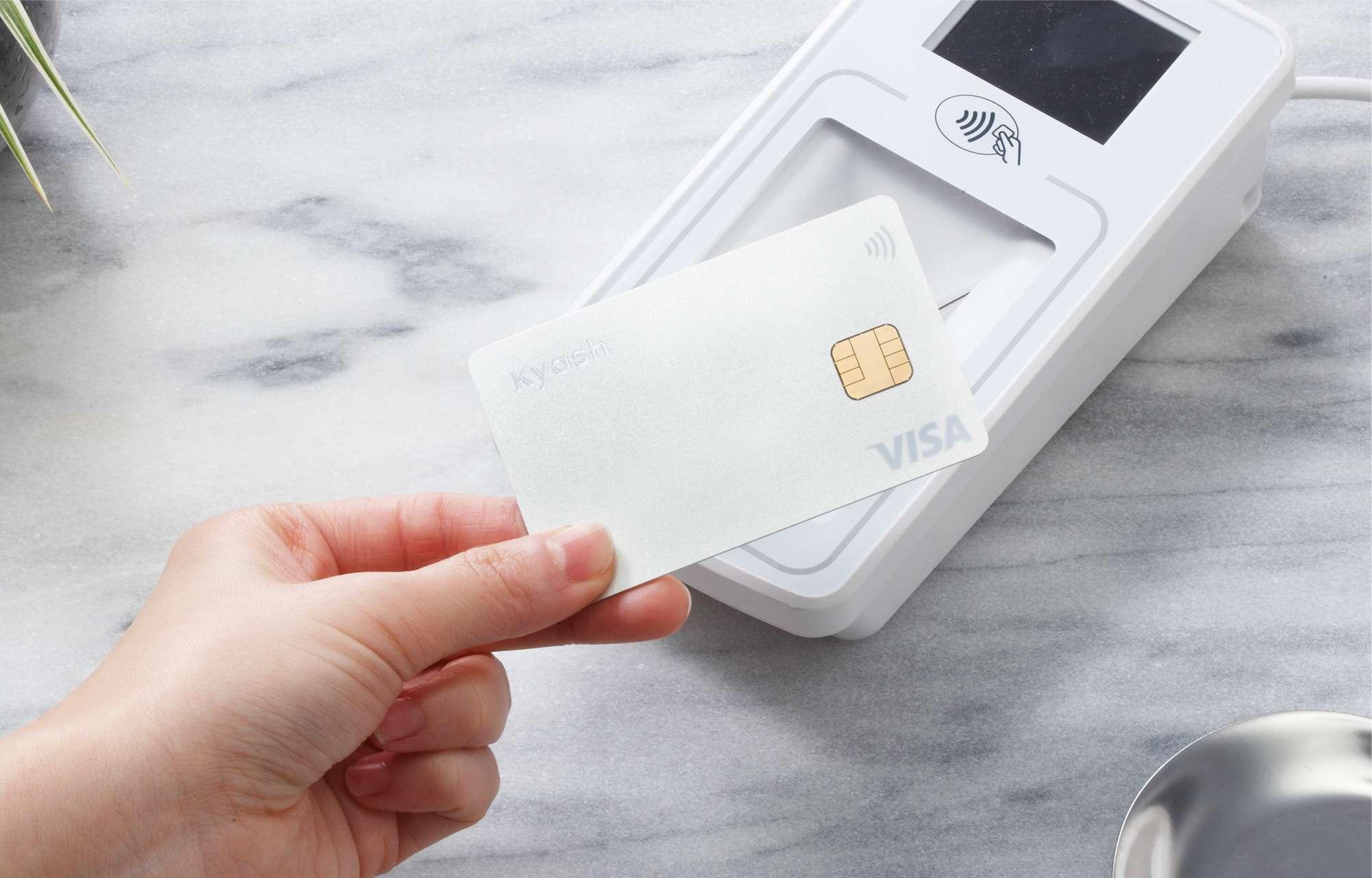 Kyash CardをかざしてVisaのタッチ決済 もっとスピーディーなお支払
