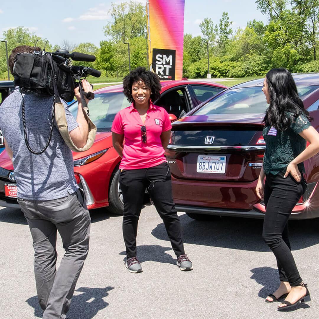 Example of street-level marketing: brand ambassador in Columbus Ohio