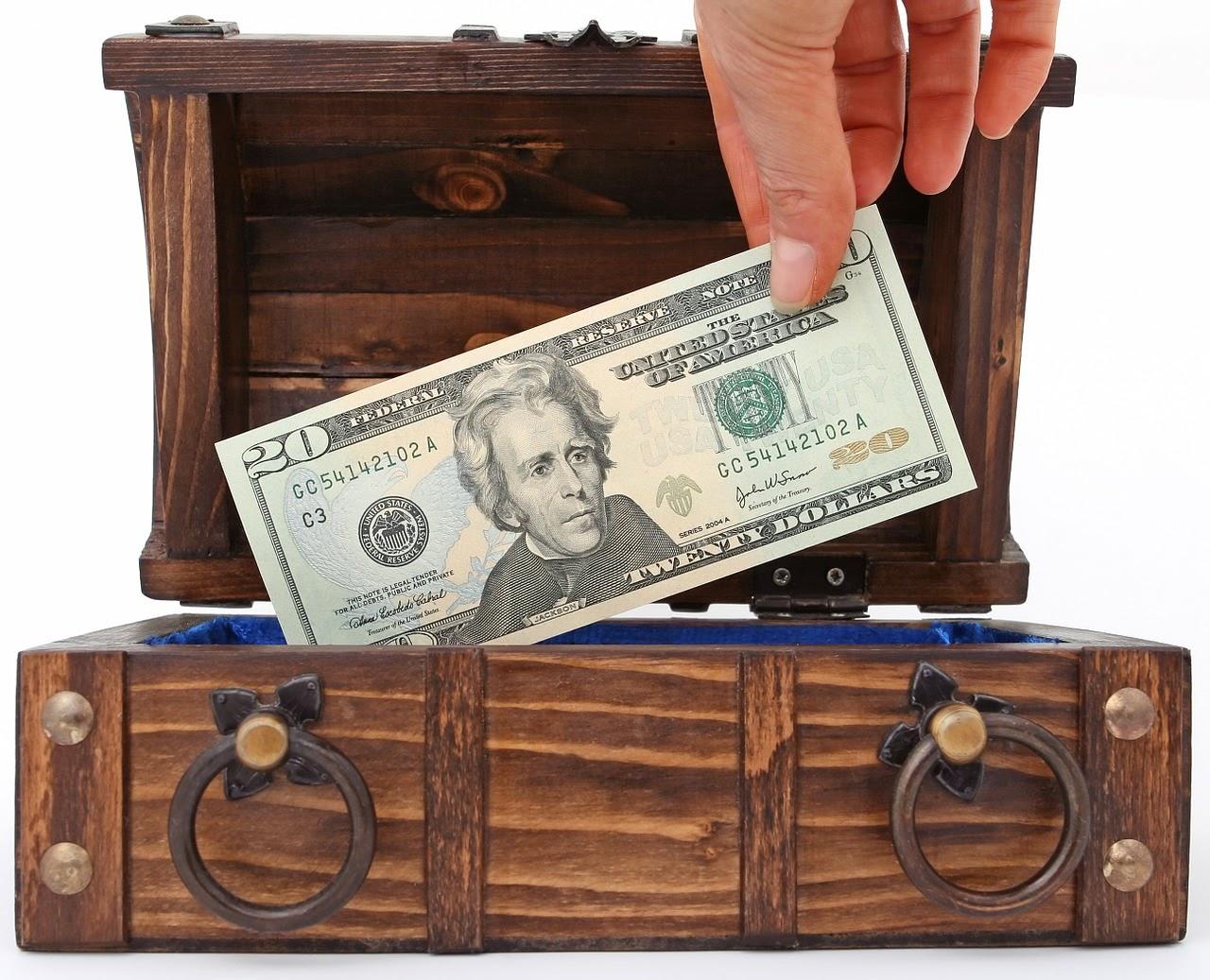 Banca, Miliardario, Banconote, Scatola, Brown, Sepolto