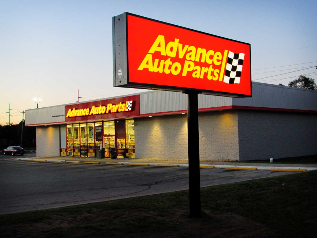 One of many signage upgrades for Advance Auto Parts stores