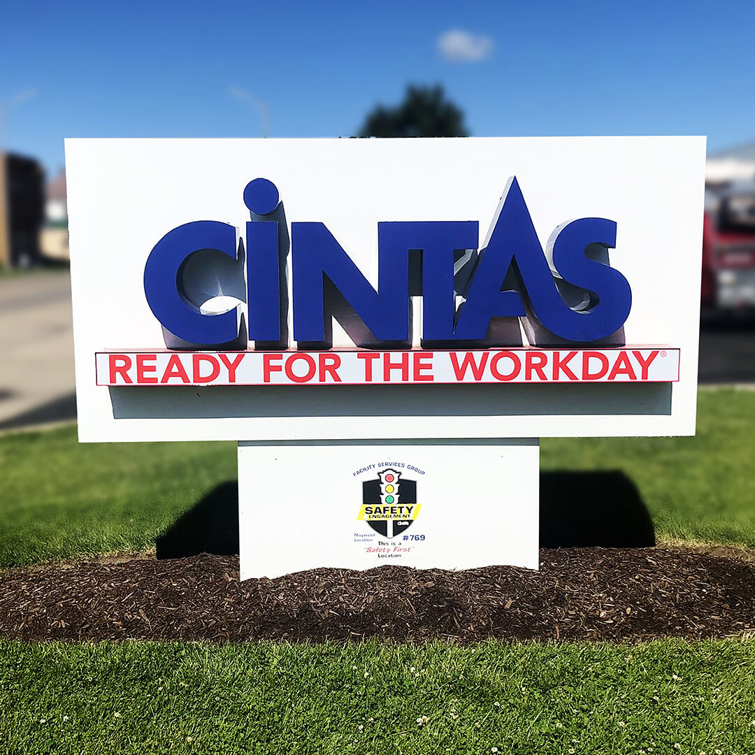 Cintas channel letter monument signs are always ready to turn heads with their sharp craftsmanship