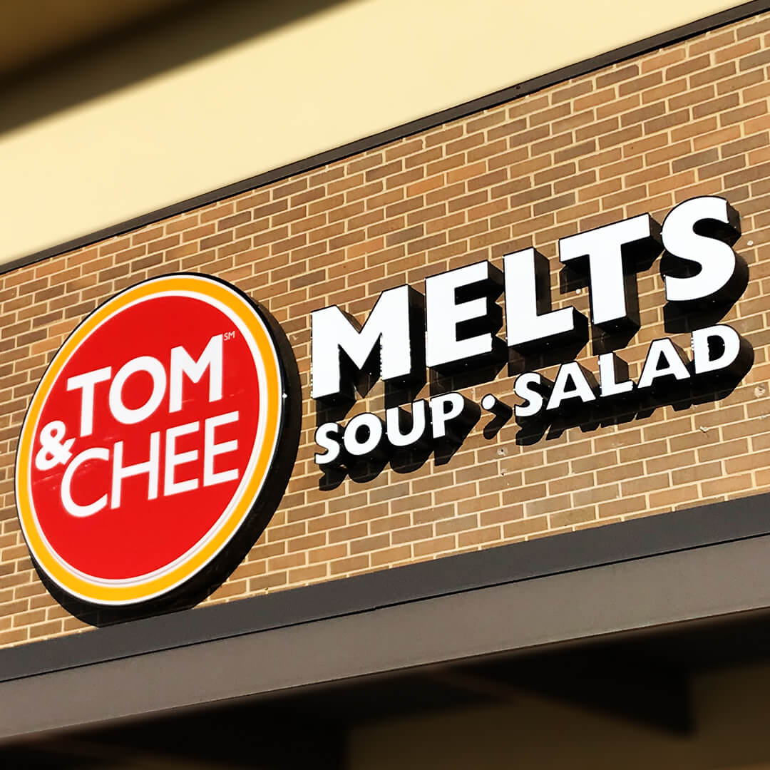 This trendy cloud/contour and channel letter sign combo is ready to turn heads and bring in hungry customers.