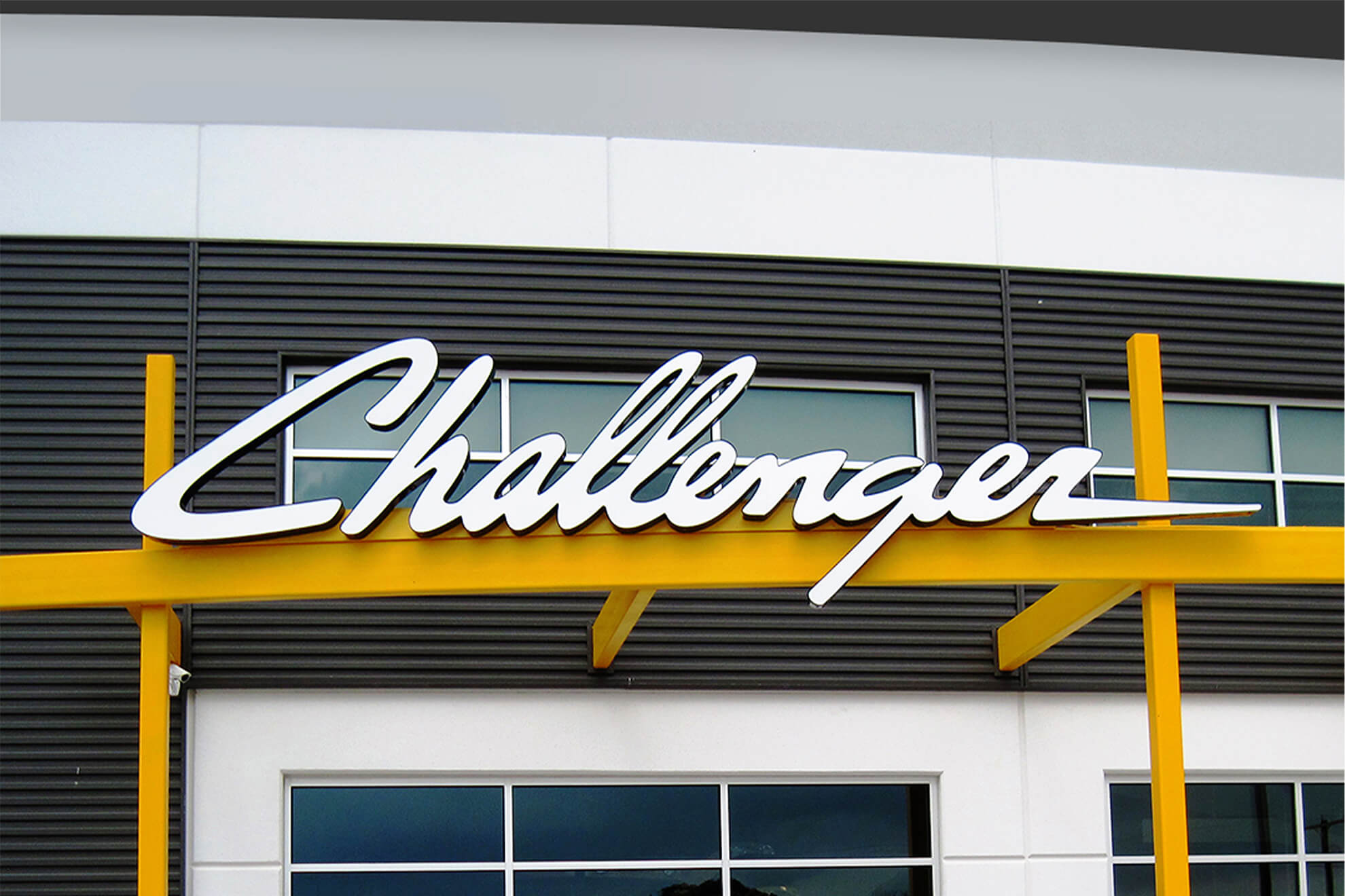 Expert craftsmanship went into creating this Challenger channel letter sign