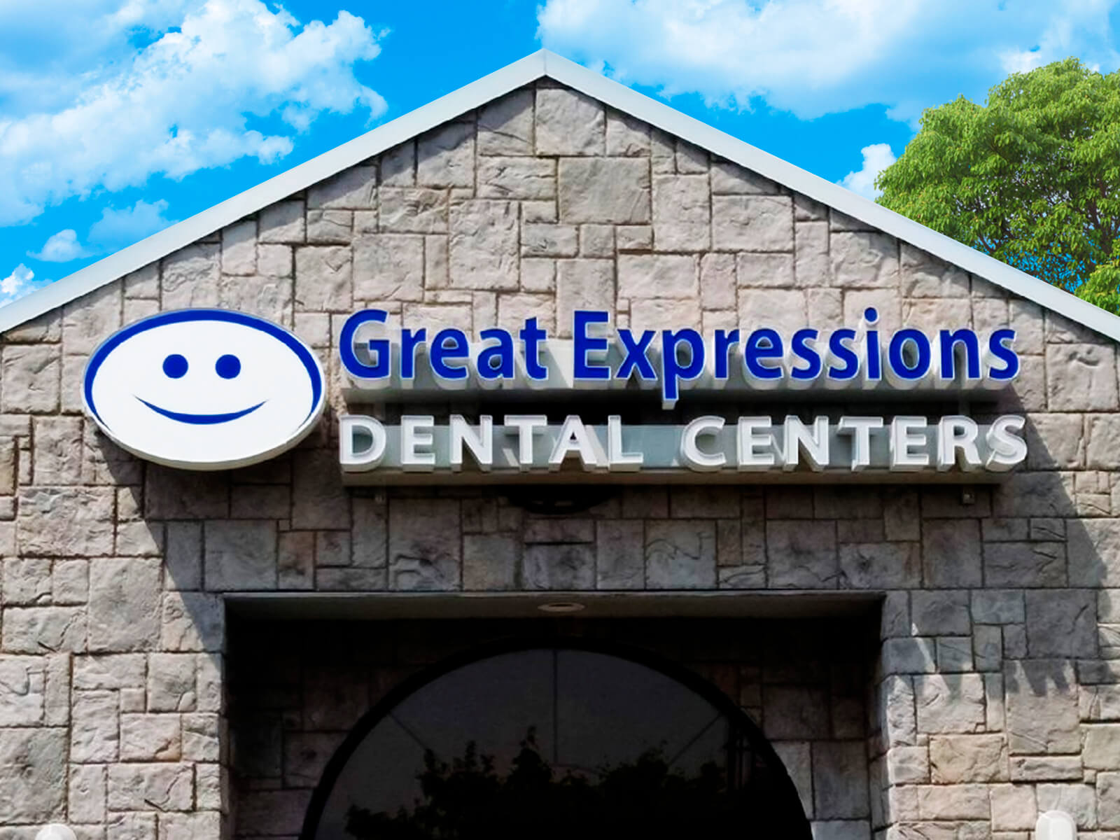 Channel letter signage for one of several Great Expressions Dental Centers.