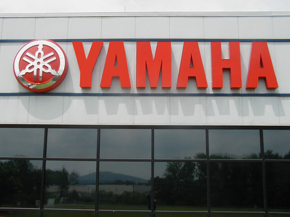 Yamaha channel letters installed at one of their HQ's.