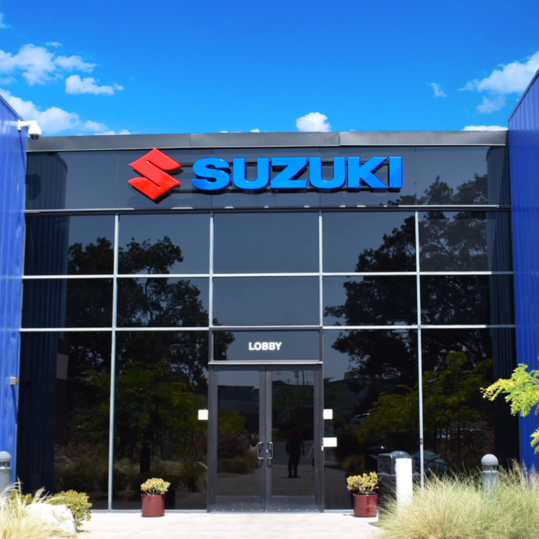 Suzuki Channel letter set installed at one of their HQ's.