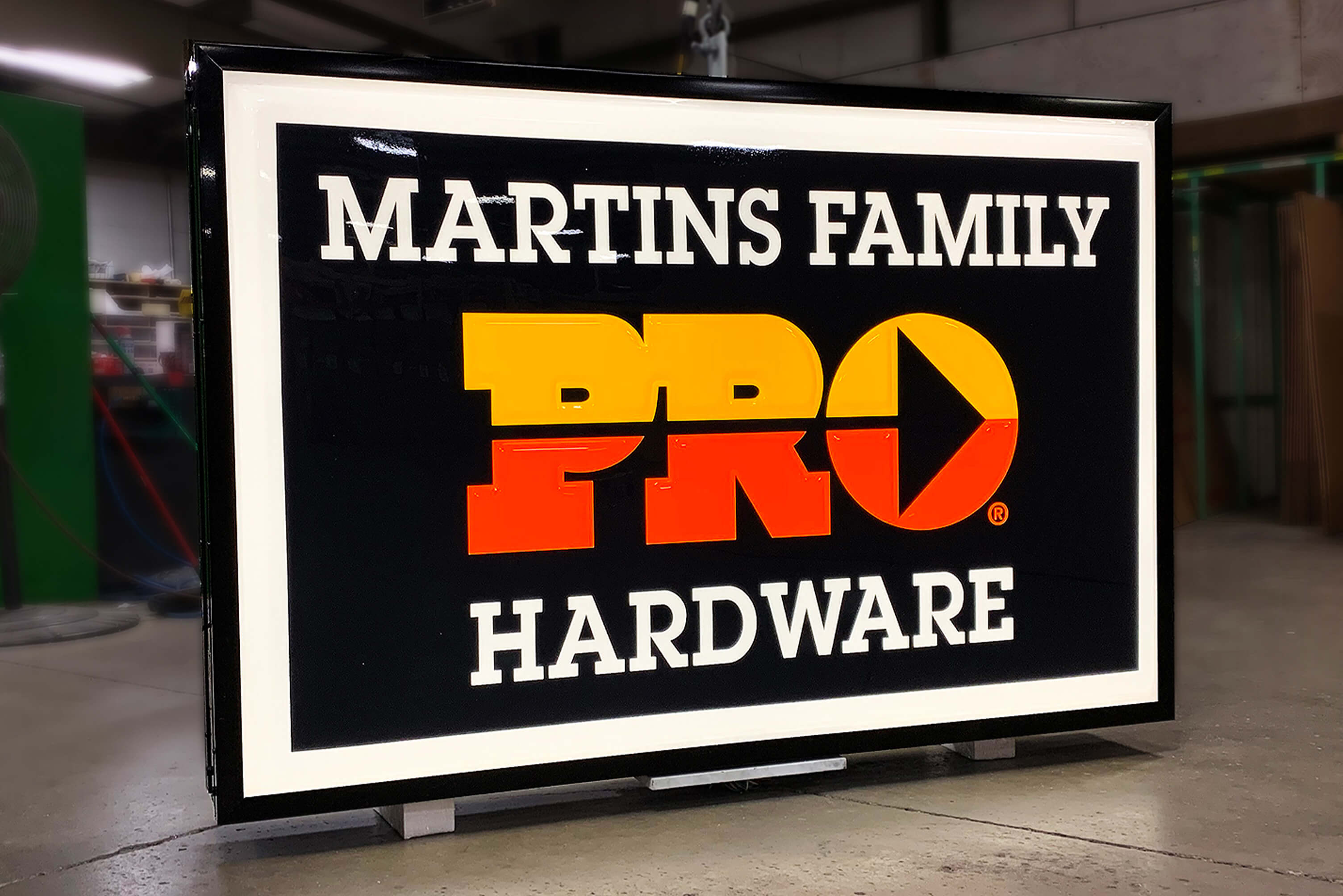 One of many Pro Hardware dealer signs made for it's network.