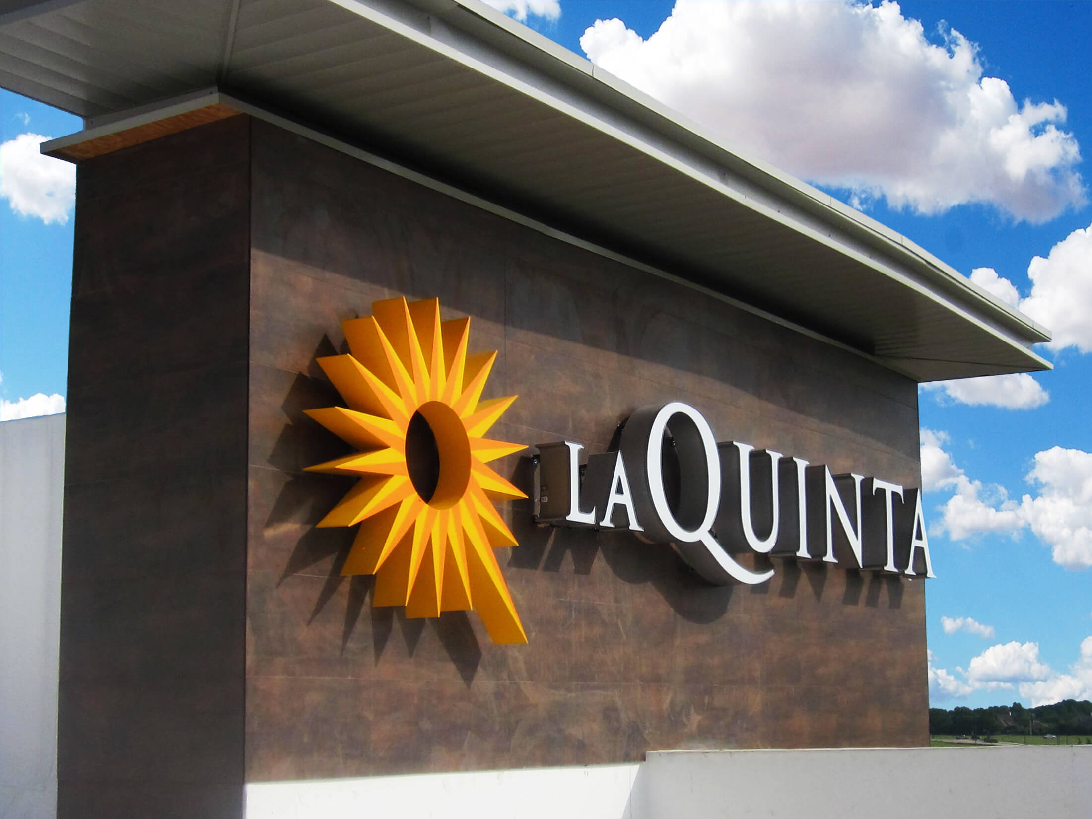 A large channel letter set made for LaQuinta.