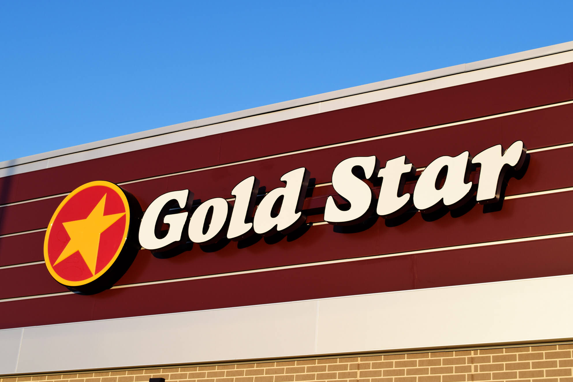 New channel letters for one of many new Gold Star locations.