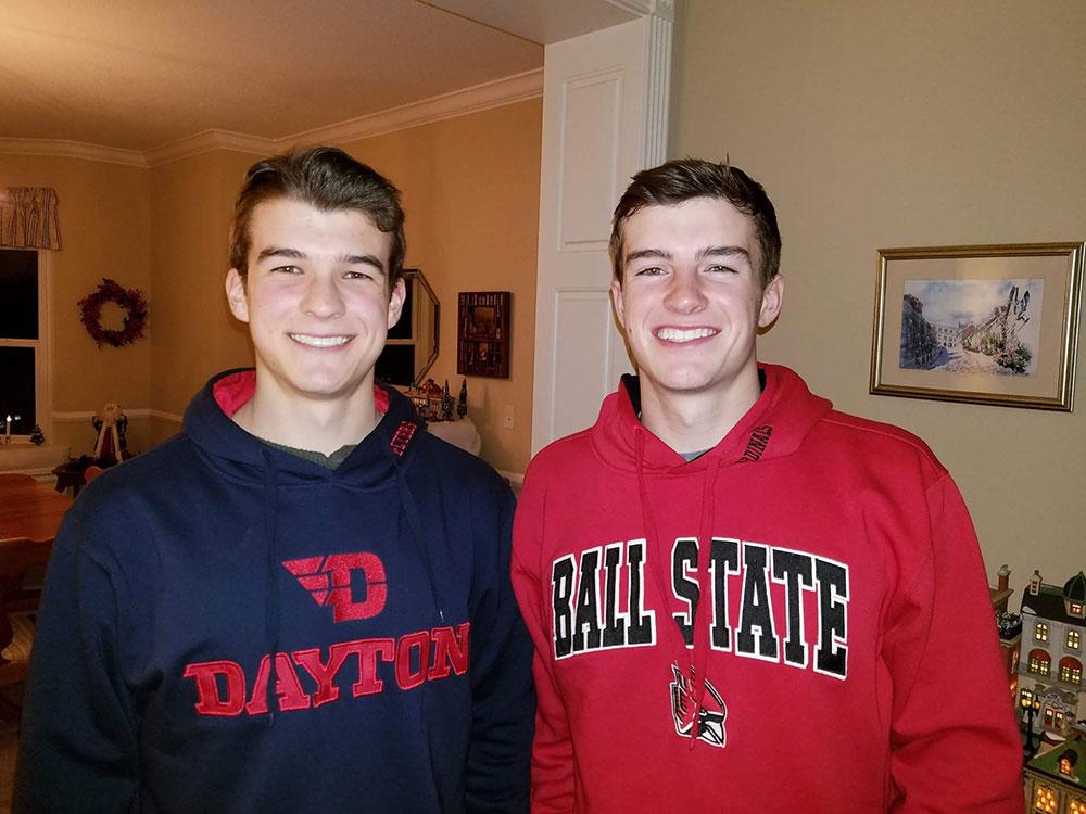 My two great Boys, Sean and Gareth