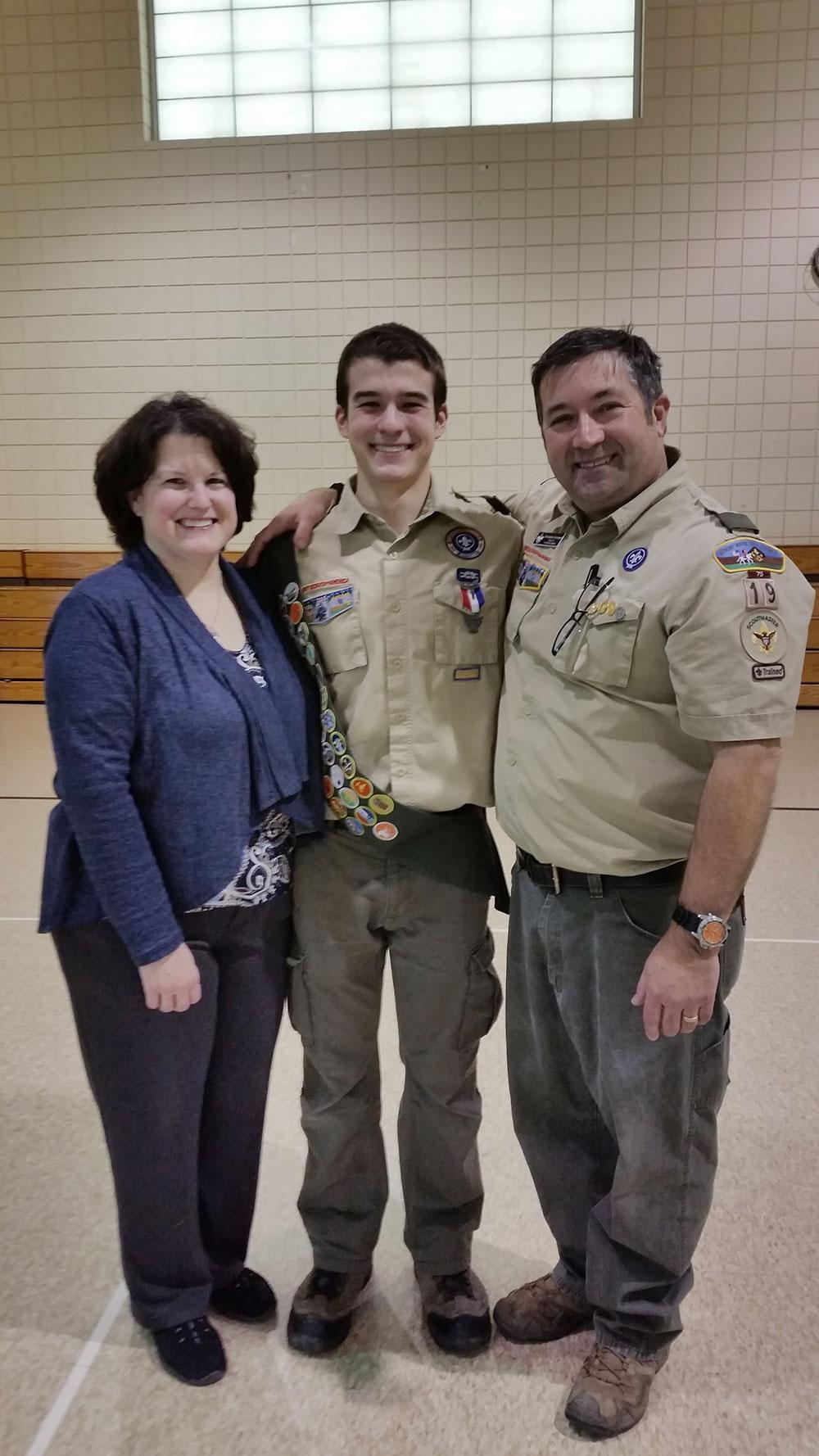 Sean at his Eagle Ceremony