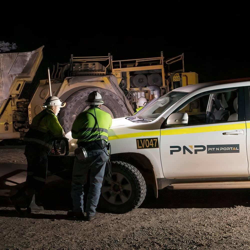 Mining work in Australia