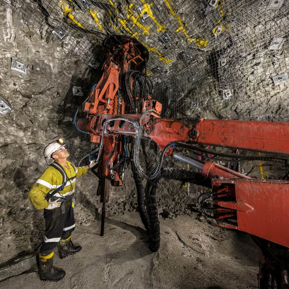 Drilling in mining