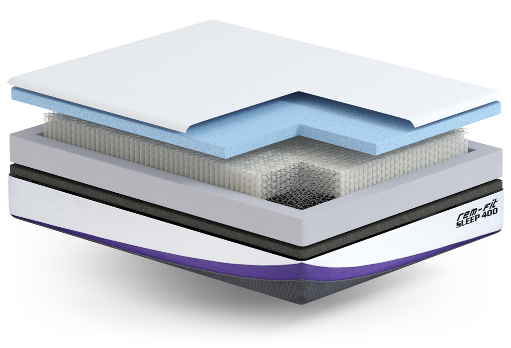Rem-Fit 400 Hybrid Mattress layers in detail
