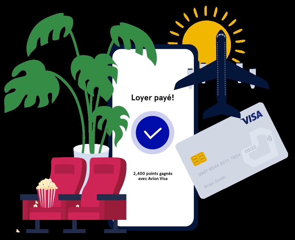 Payez le loyer avec votre carte de crédit et gagnez plus de points ou de remise en argent.