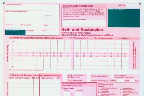 Heil- und Kostenplan vergleichen