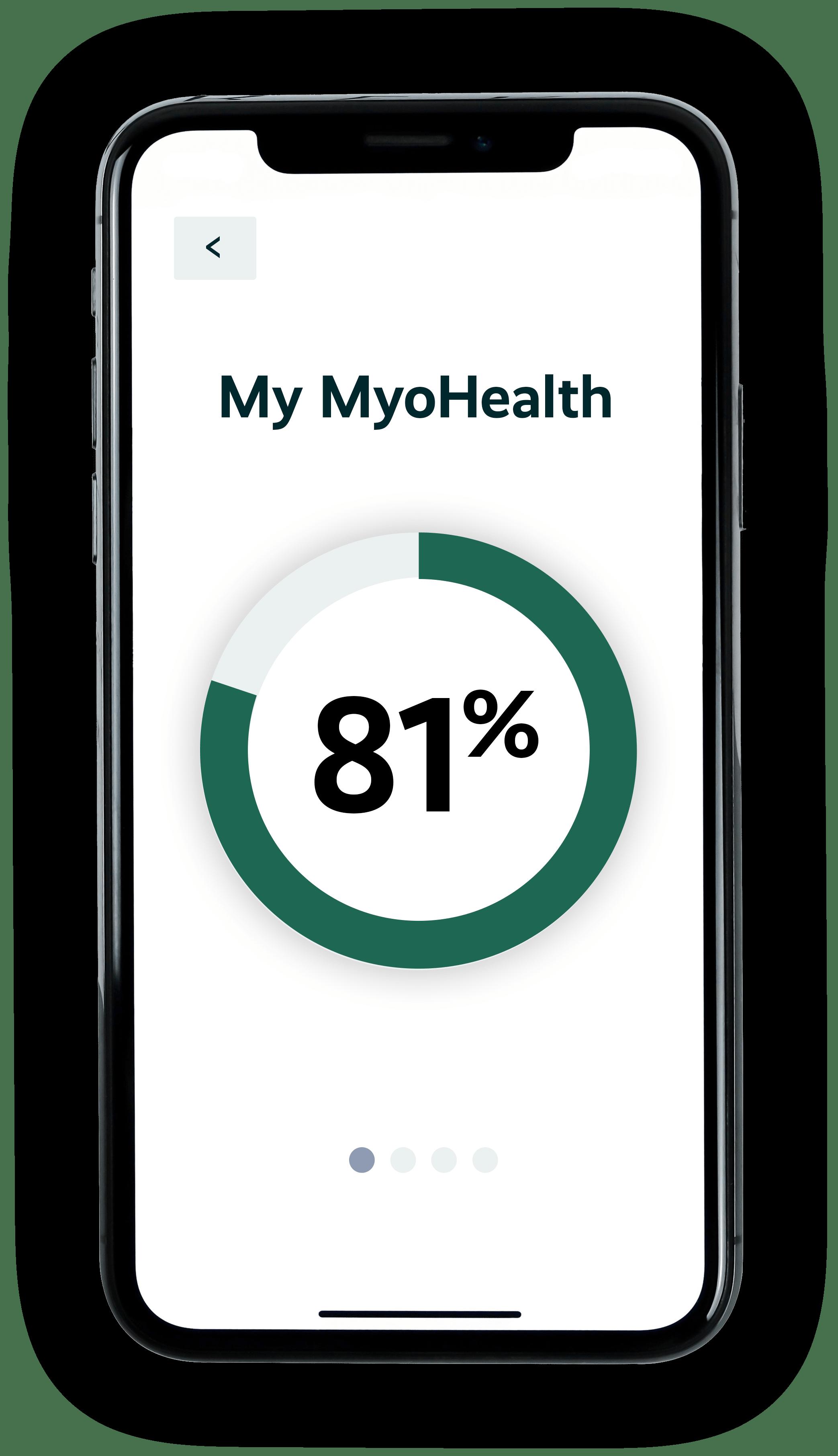 myohealth patient score on mobile phone app