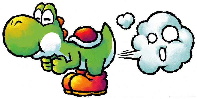 Yoshi with bad wind from the official artwork set for #Yoshi Topsy Turvy on  #GameBoyAdvance. #Mario. http://w… | Arte super mario, Dibujos animados  sencillos, Yoshi