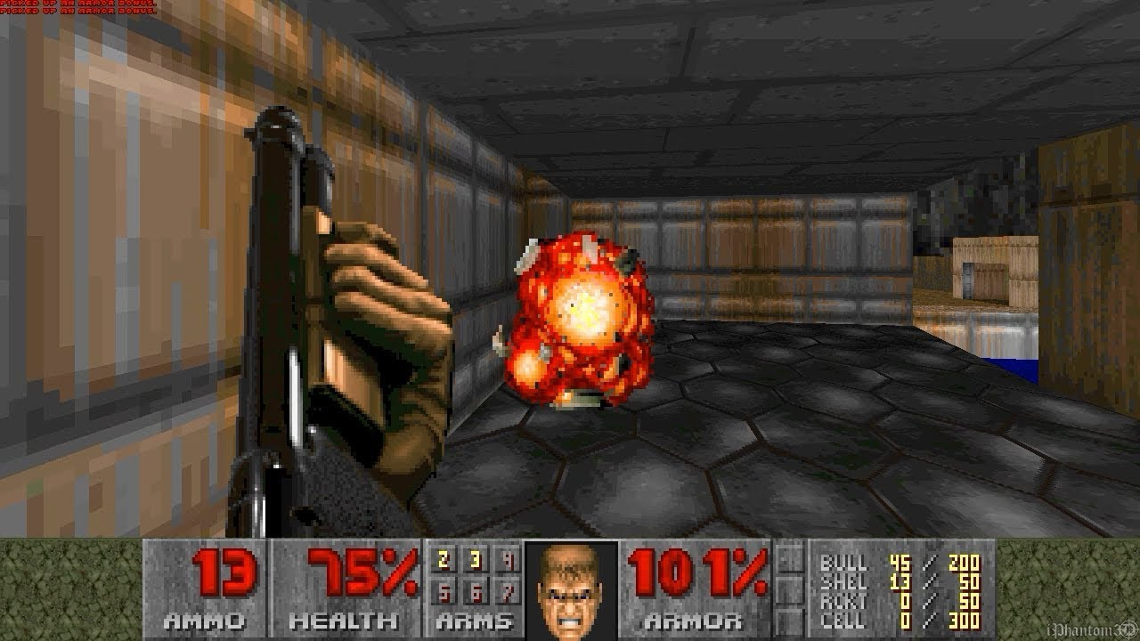 Doom 1 - Mission 1 Gameplay - YouTube
