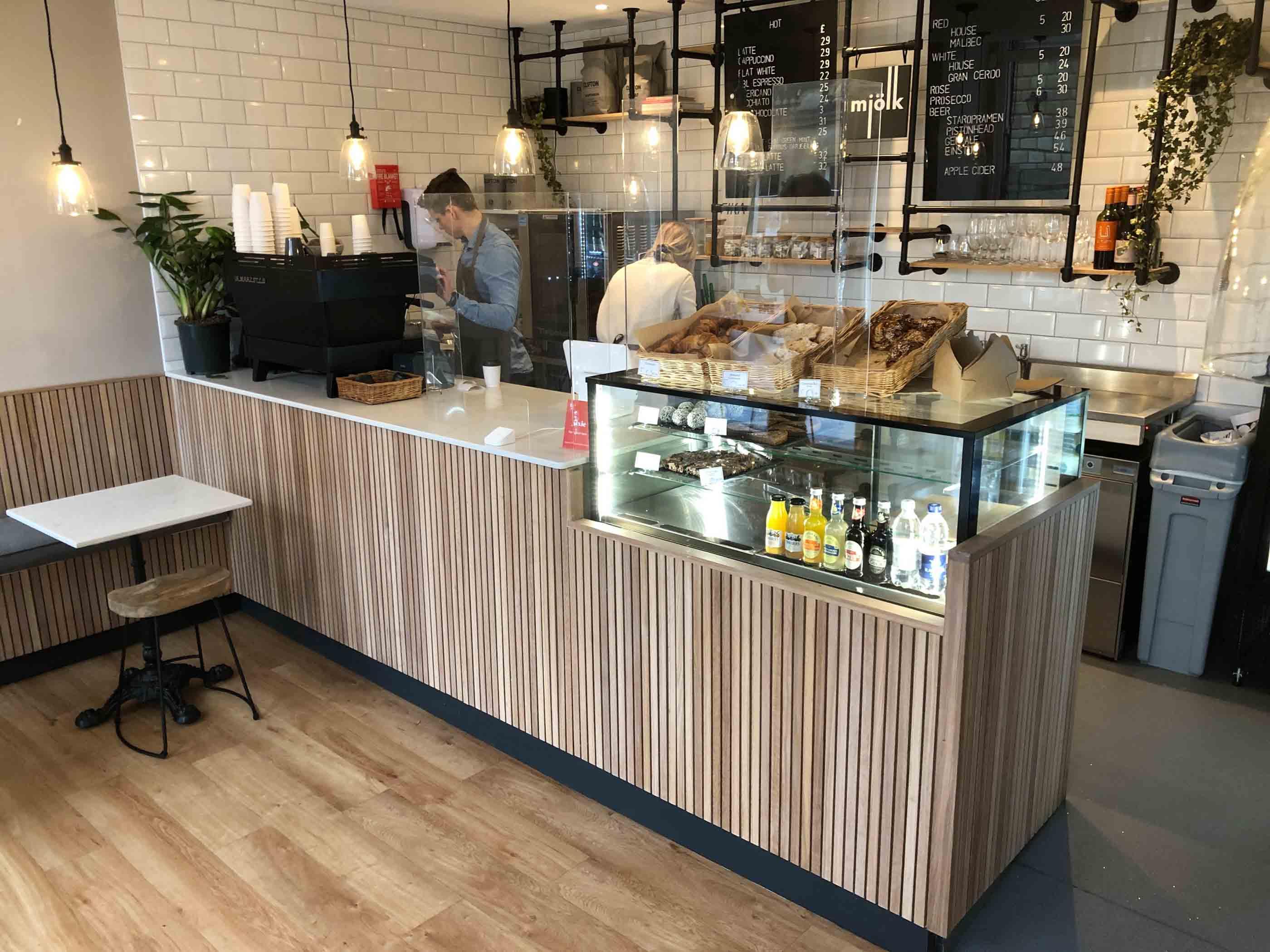 Amateur photograph of a cafe.
