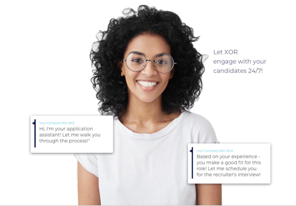 XOR HR chatbot demo screen