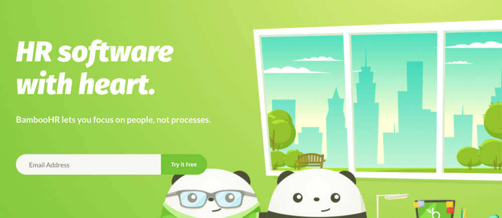 BambooHR demo sign up page