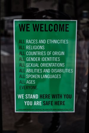 political sign accepting diversity
