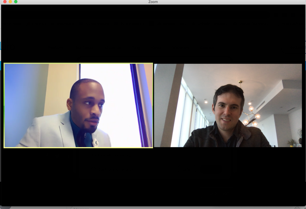 Zoom call with Phil Strazzula of SelectSoftware and a head of HR