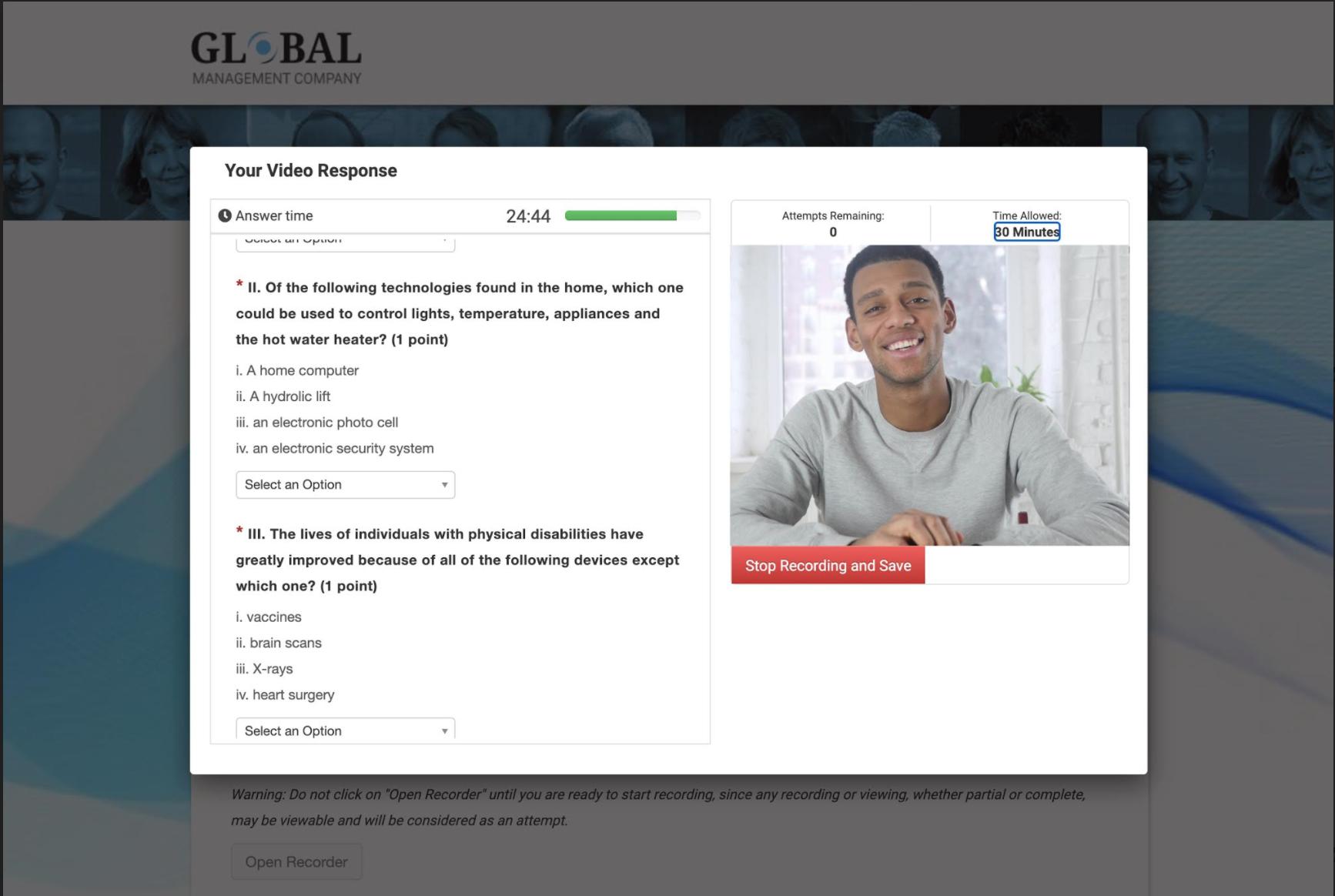 VidCruiter Online Proctoring