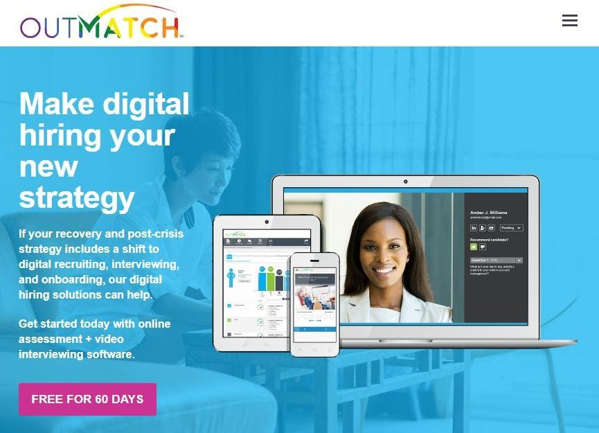 Outmatch demo page make digital hiring your new strategy