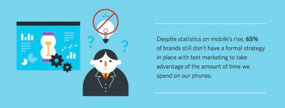 65% of brands still don't have a formal text marketing strategy for recruitment