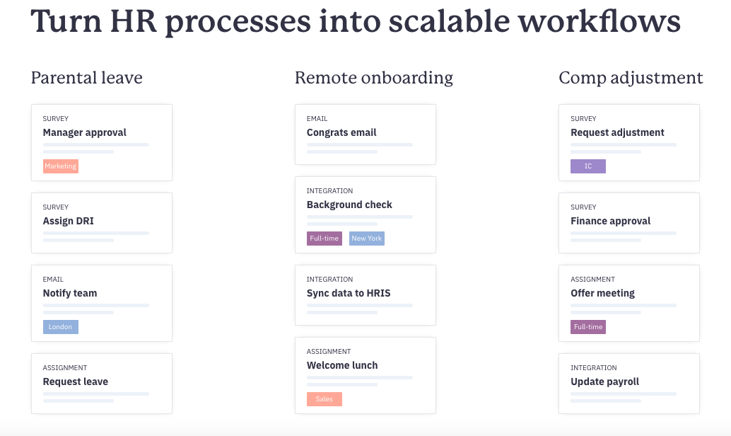 Scalable workflows