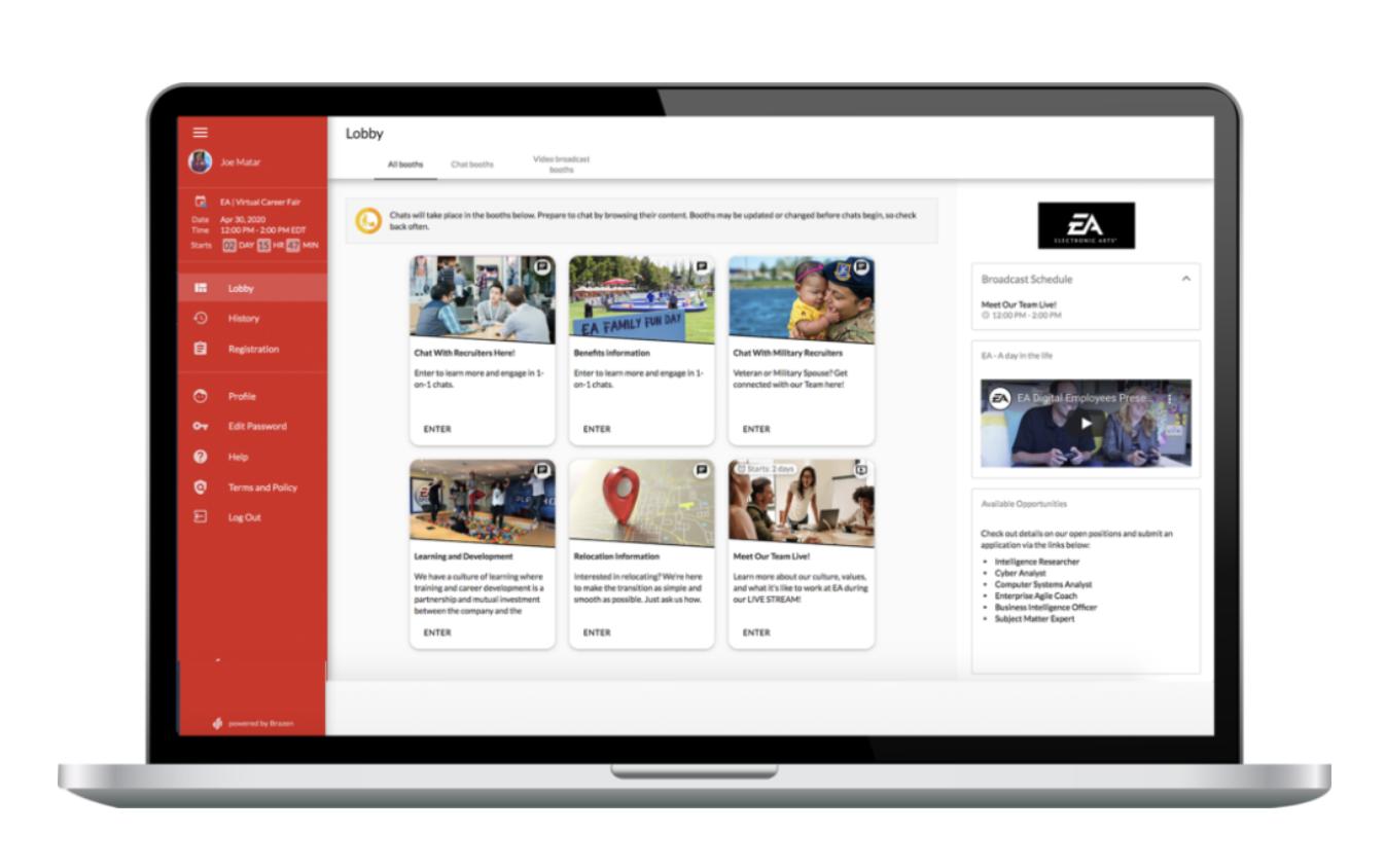 Brazen's Virtual Career Fair Platform