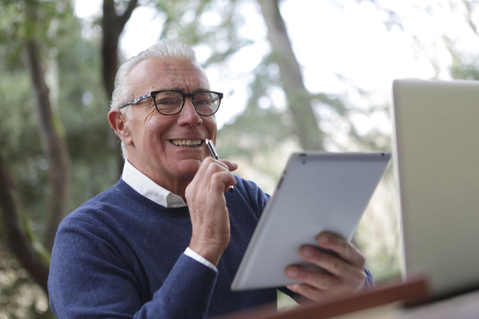 A retiree planning a successor