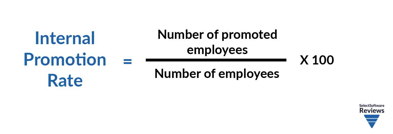 Internal Promotion Rate = ( number of promoted employees / number of employees ) x 100