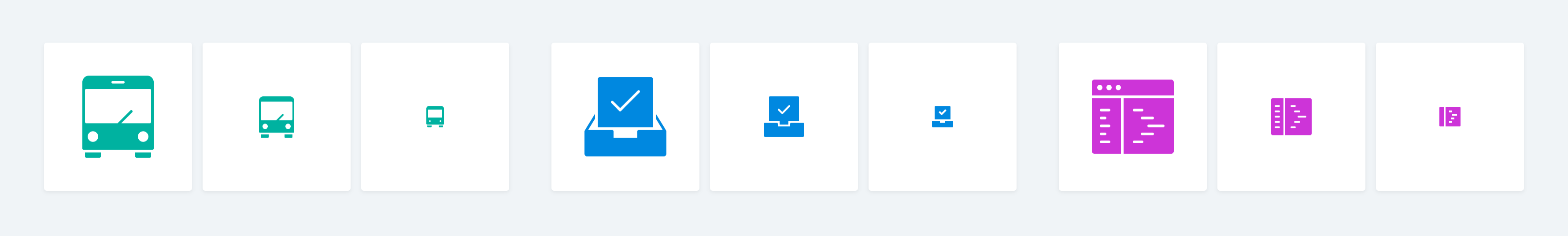 Responsive icons add detail at larger sizes.
