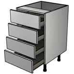 Clio Gloss Light Grey drawers