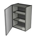 Clio Gloss Light Grey wall unit