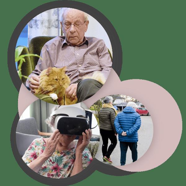 Eldre mennesker hygger seg med opplevelser