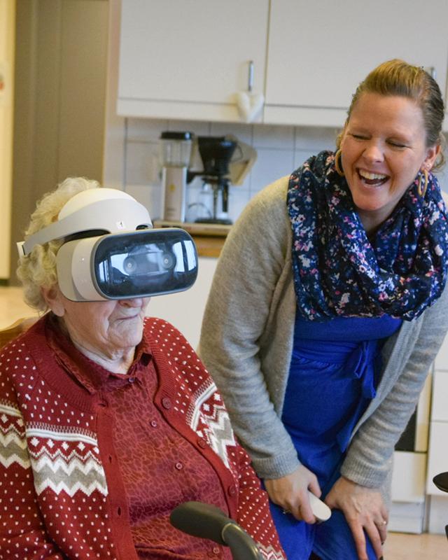 God stemning under bruk av VR-briller på sykehjem