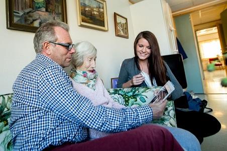 MinMemoria brukes til å skape en hyggelig stund på sykehjem