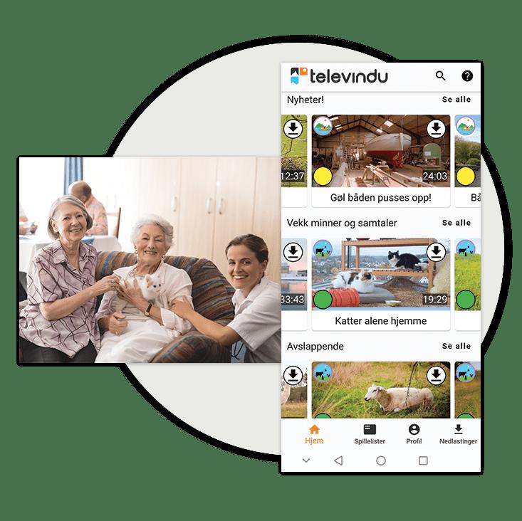 Illustrasjon: Televindu app