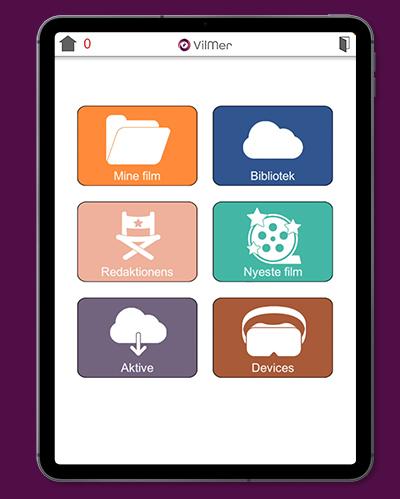 Hjem-skjerm i app