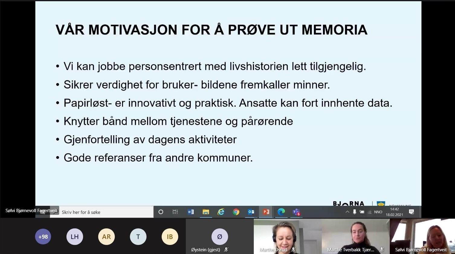 skjermdump fra webinar