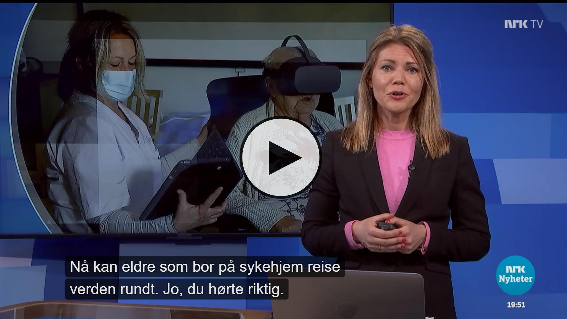 NRK nyhetssending om VilMer-VR