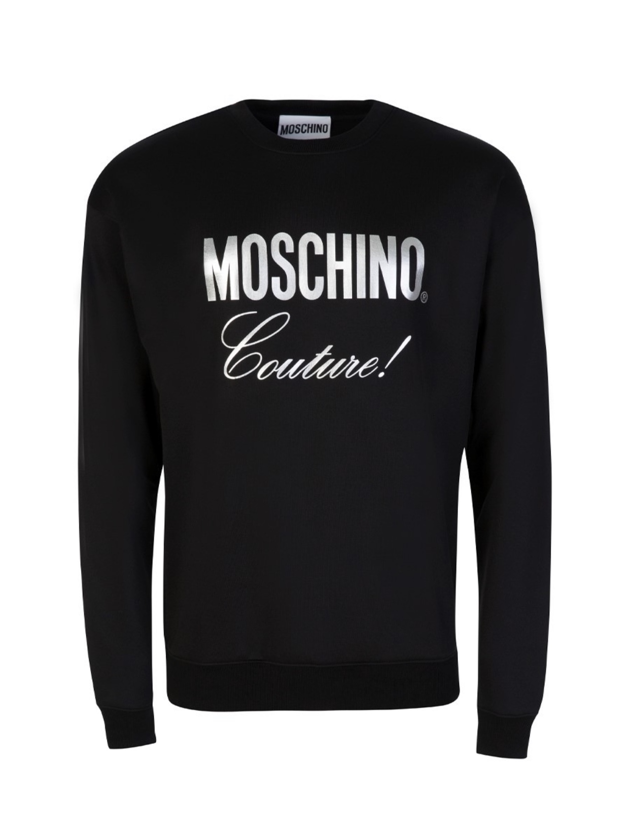Couture metallic logo print jumper