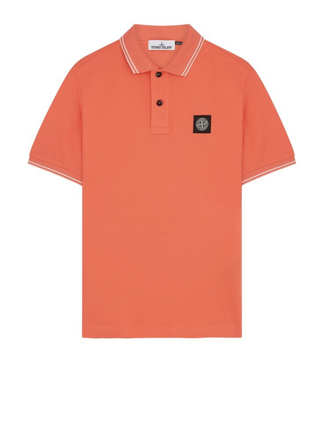 Polo Shirt In Orange Red