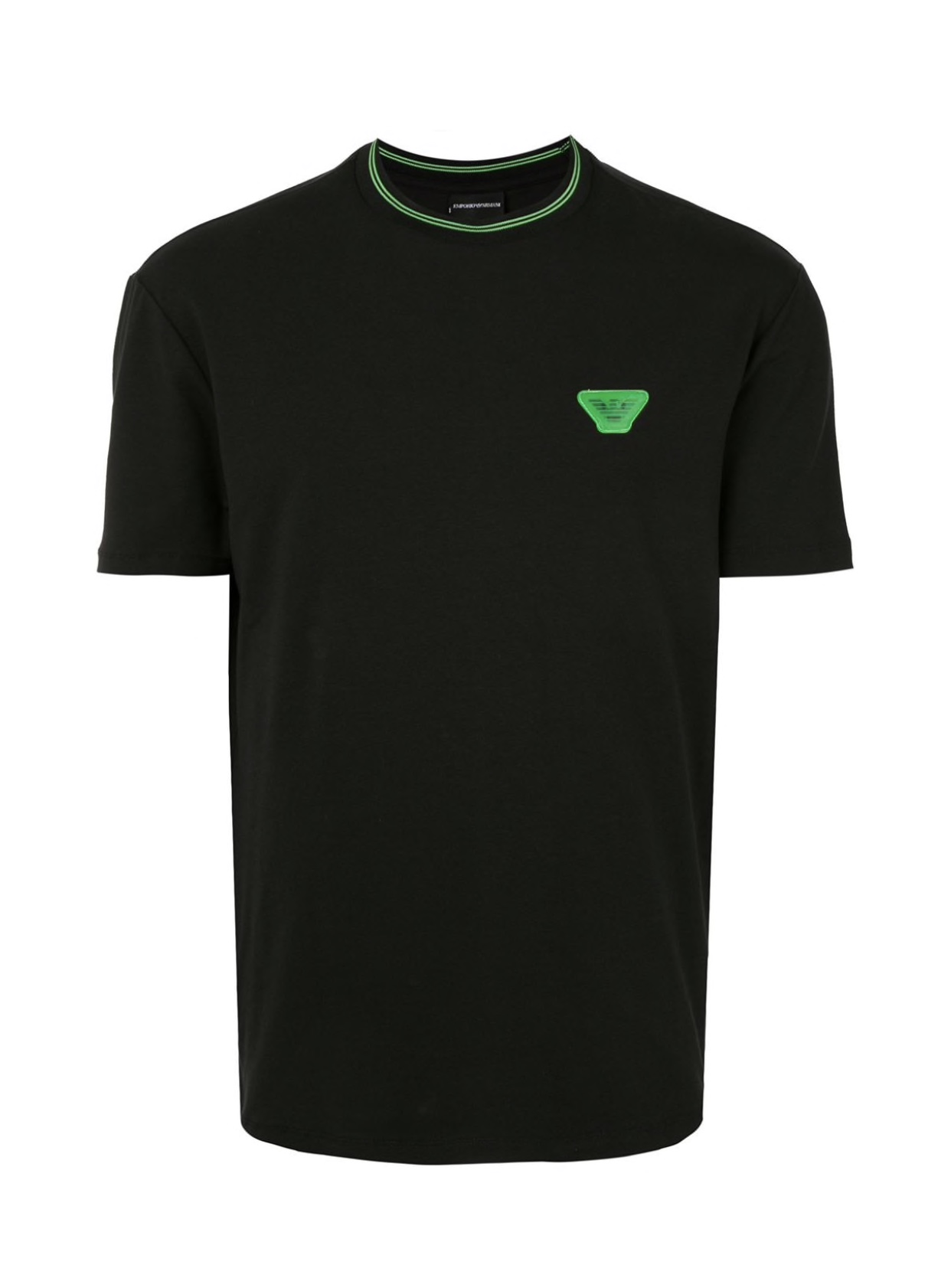 Black green hologram t-shirt