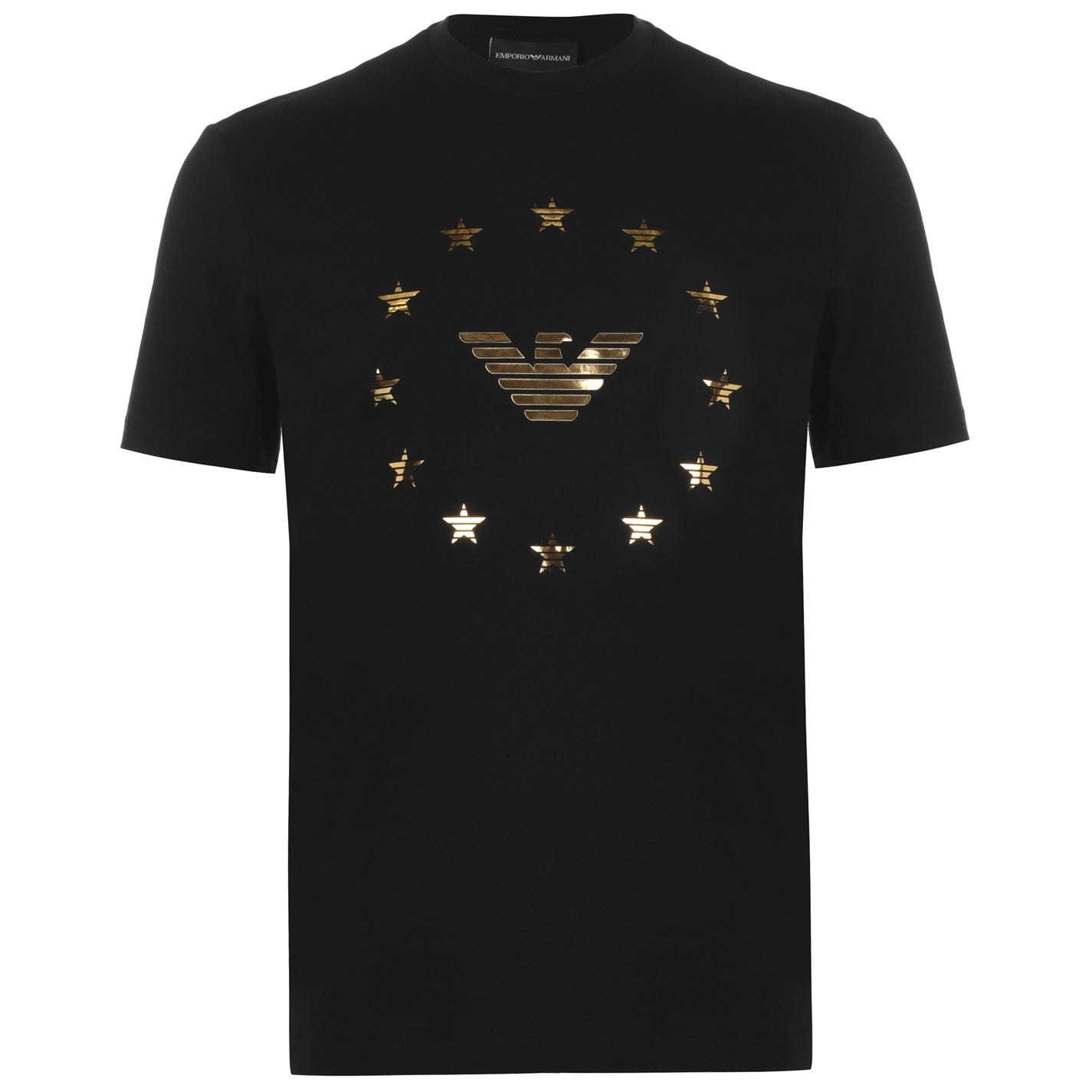 Black gold star t-shirt